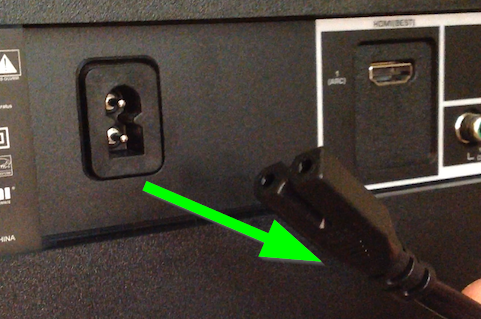 Unplugging your TV.