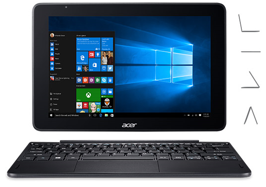 An acer one 10 system showing the orientation