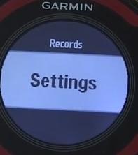 Garmin forerunner settings