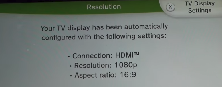 Wii u TV Display settings button