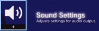 Sound Settings with speaker icon