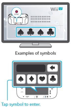 Wii u gamepad symbols for syncing