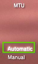 PS3 MTU settings set to automatic