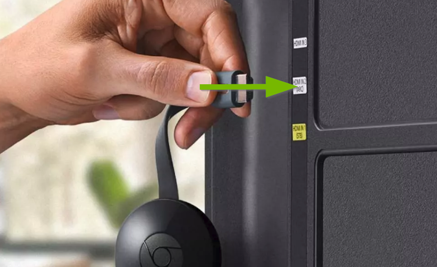 Plug the Chromecast back in to your TV.