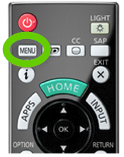 TV remote menu button.