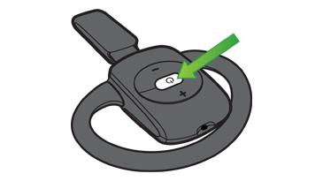 Xbox wireless headset on button