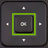 Remote with OK button highlighted