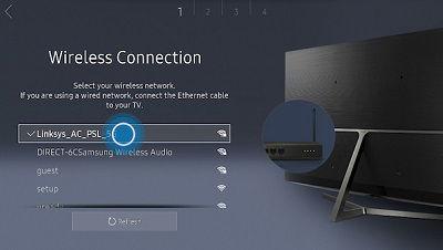 Samsung tv network name selection