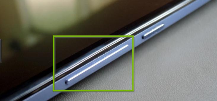 Tablet volume button.