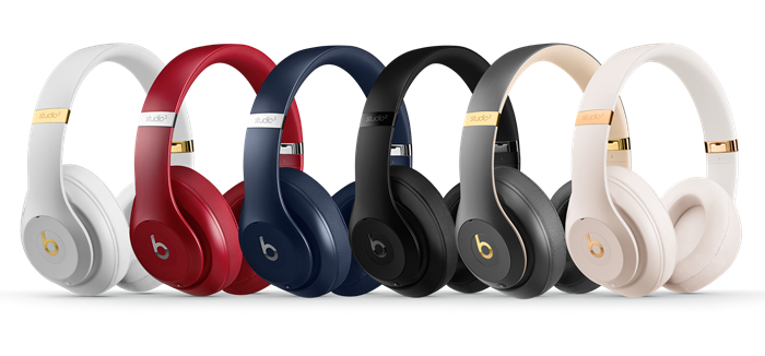 A selection of Beats Studio 3 headsets
