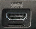 Common HDMI port.