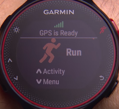 Garmin forerunner stating that gps is ready