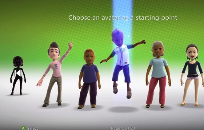 Xbox 360 choose an avatar
