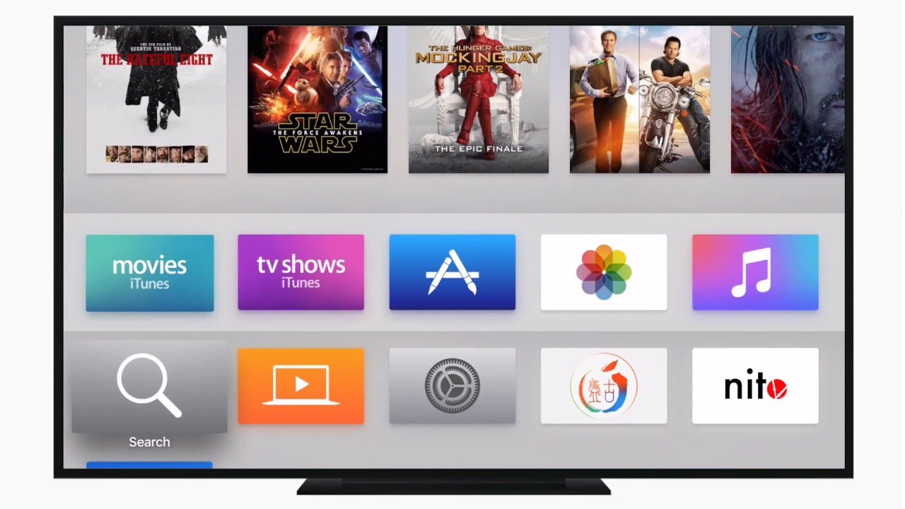 AppleTV selecting an app from app store