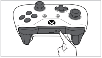 Xbox controller connect button.