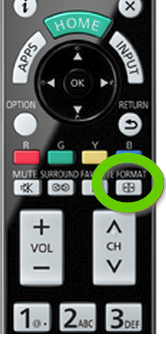 Format button on remote.