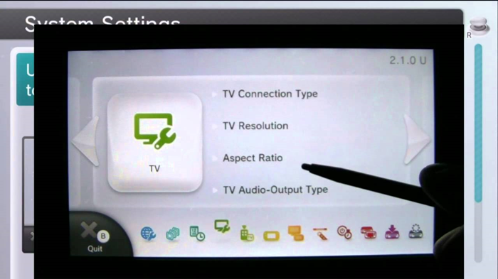 Wii u tv display settings