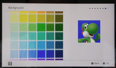 Nintendo switch background color selection