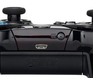 Xbox controller USB port.