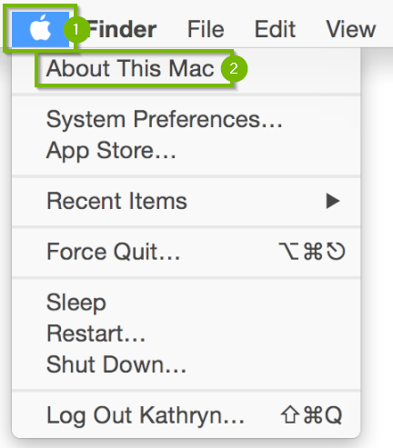 apple menu with about this mac highlighted