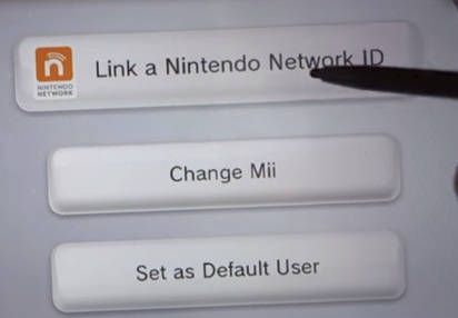 Link a nintendo network ID button