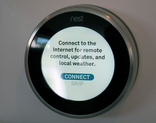 Nest thermostat with Connect highlighted
