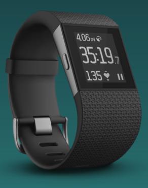 Fitbit Surge device.