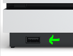 Xbox One S' front USB port.