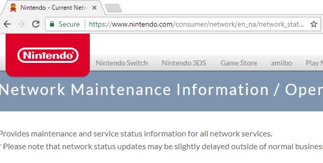 Nintendo website