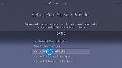 Samsung tv selecting an input source