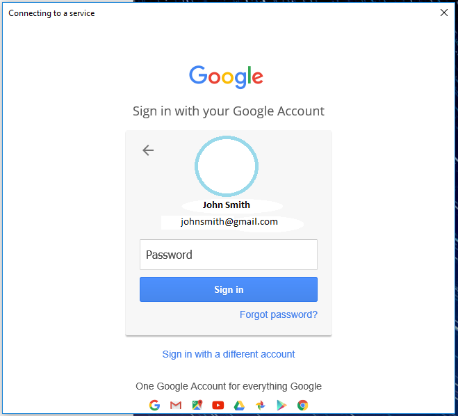 Windows Mail asking for google passwords.
